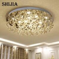 Современные светодио дный кристалл большой круглый потолочный светильник для Гостиная Спальня украшения потолочный светильник Крытый осв