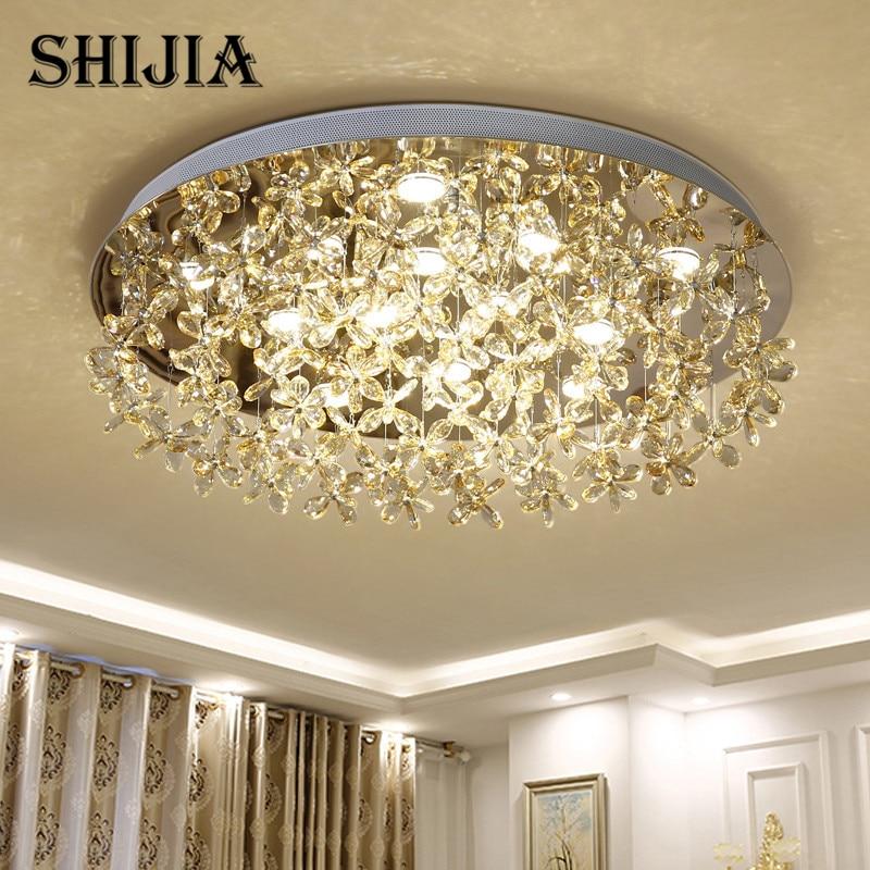 Modern led Crystal Large Round ceiling light for Living Room Bedroom Decoration Ceiling Lamp Indoor Lighting Fixture