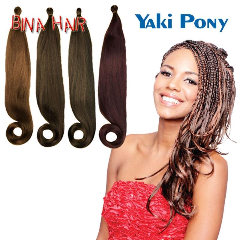 crochet braids with yaki pony tail cut in half online buy ...