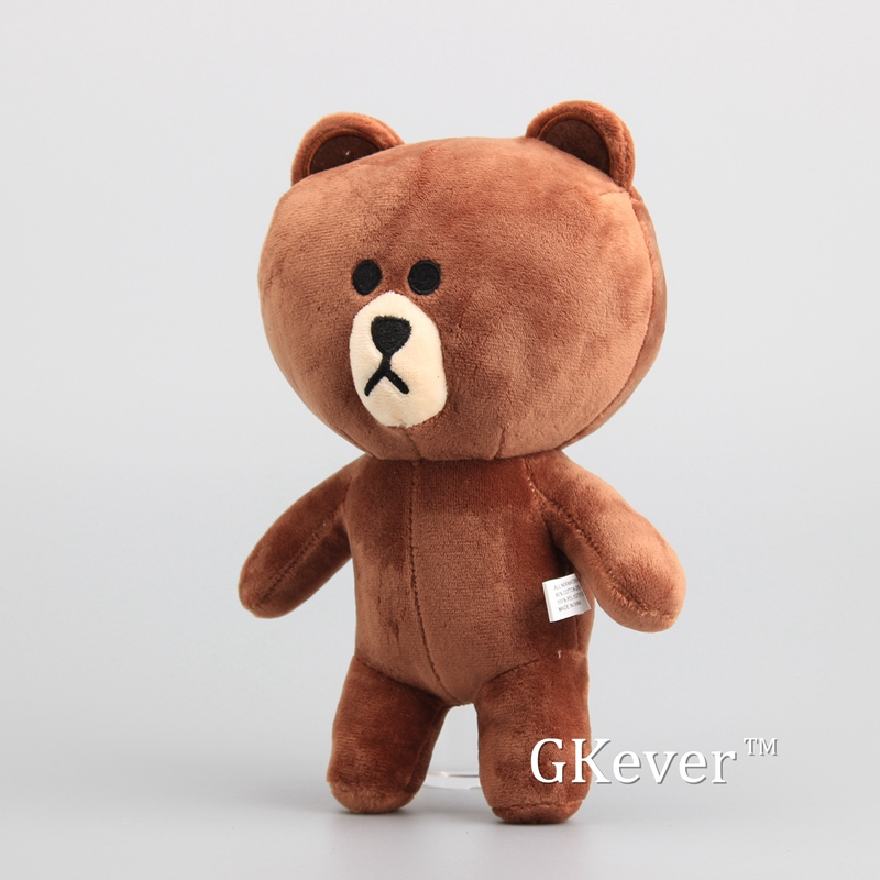 Anime Standing Brown Bear Soft Dolls Cute Bear Plush Toy Stuffed Animals Children Gift 10 25 CM