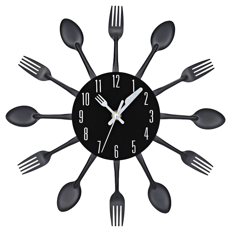 4 Couleurs Moderne Ruban Multi couleur Couverts Cuisine Horloge ...
