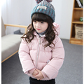 2016 Baby Girls Coat Cotton-Padded Baby Girls Outerwear Full Sleeve Baby Jacket Winter Thick Hooded Manteau Fille