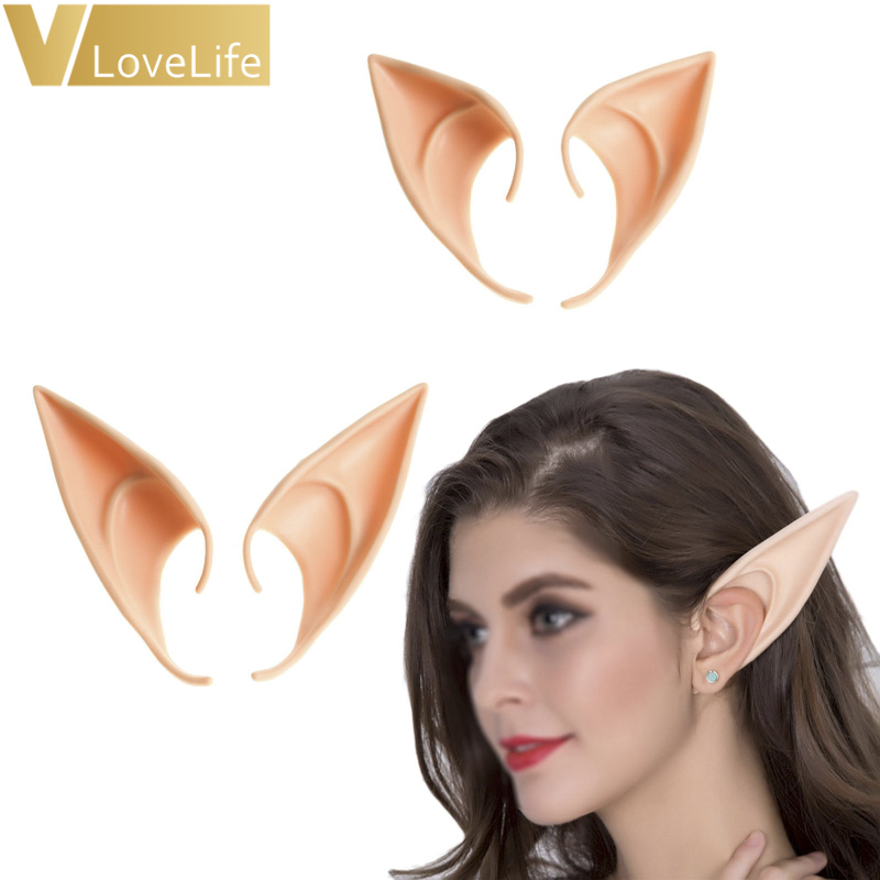 Fairy Elf Ears Halloween Cosplay Costume Latex Fake Party Props Diy Decorations