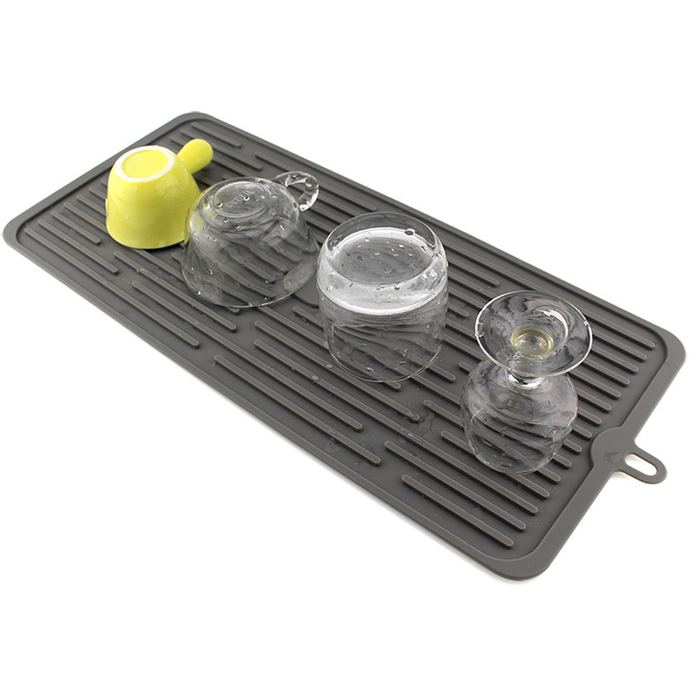 Silicone Placemat Table Mat Dish Drying Mat Kitchen Sink Non-slip  Heat Resistant Trivet Waterproof Countertop Pad Accessories