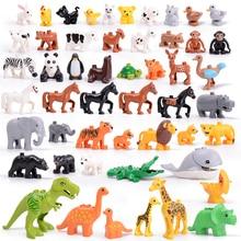 """Legoing duploed серия """"Животные"""" большие строительные блоки черный Кот Собака Лев и Тигр Слон с игрушками для детей Дети вечерние подарок"""