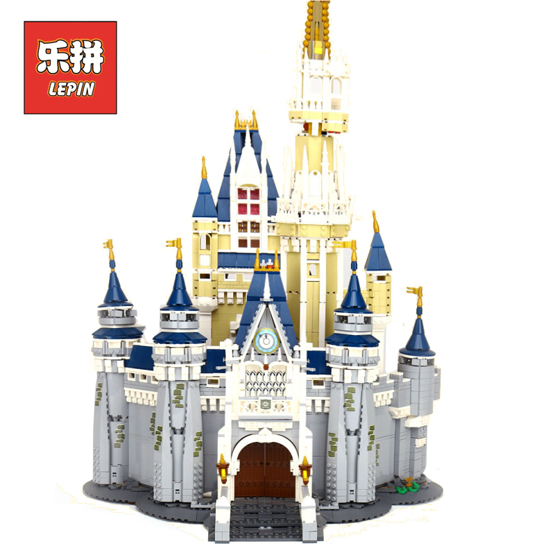 Lepin Girl Series Cinderella Princess Castle City set Compatible 71040 Model Building Block DIY Toy Birthday Gift lepin 16008 lepin 16008 creator cinderella princess castle city 4080pcs model building block kid toy gift compatible 71040