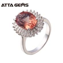 Diaspore Sterling Silver Ring För Kvinnor Zultanit 8 Carats Silver Ring Färgändringar Stone S925 Ring Födelsedagspresenter Mors dag