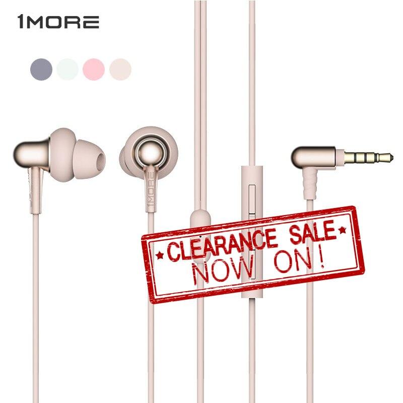 1MORE Earphone E1025 Wired Earbud Stylish Dual-dynamic Driver In-Ear Earphones MEMS Microphone For Xiaomi Samsung Iphone Huawei