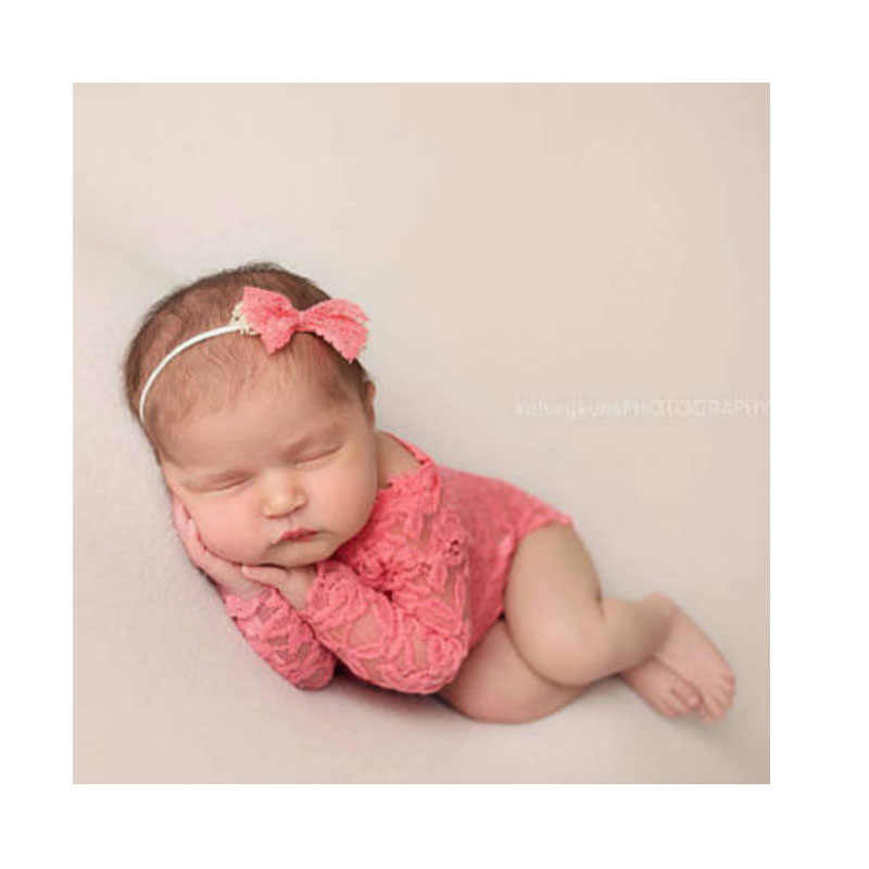 Newborn Baby Lace Rompers Set Toddler Photography Prop Clothes & Headband Girl Photo Prop rompers Vintage Newborn Romper Clothes