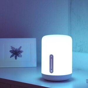 Image 4 - Xiaomi Mijia lampka nocna 2 inteligentne kolorowe światło sterowanie głosem WIFI przełącznik dotykowy Mi Home App żarówka Led dla Apple Homekit Siri