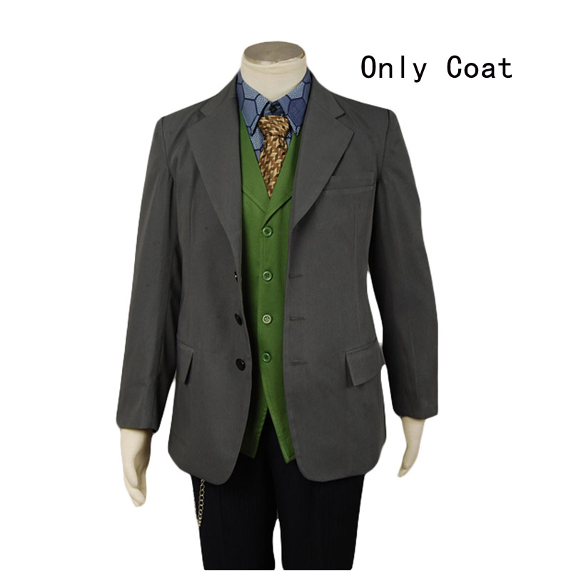 Batman Dark Knight Joker Grey Blazer Costume Only Coat  jacket