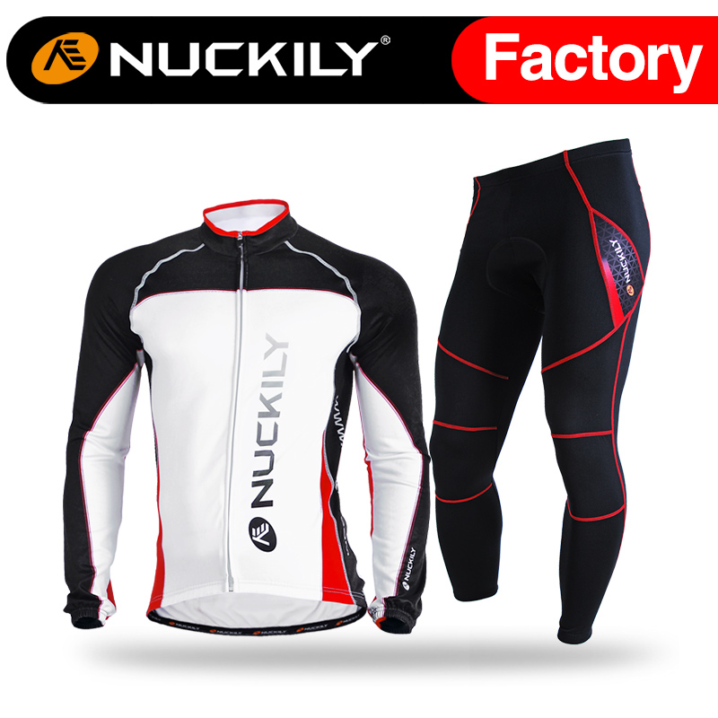 Nuckily Winter Biking Cycling Clothing Custom Bicycle Jerseys Reflective Warm Padded Cycling Tights set  MI003NS900-W accept sample order cheap china wholesale cycling clothing vintage cycling custom wear cycling clothing with chamois