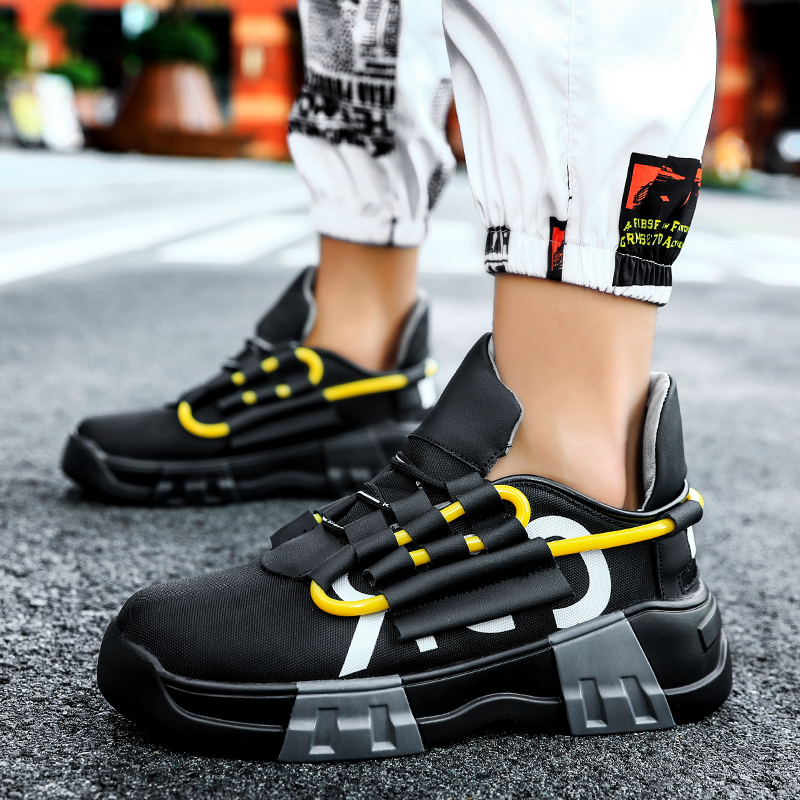 Image 4 - YRRFUOT Fashion Thick Bottom Men Sneakers Trend Outdoor Men Shoes Light Breathable Hot Sale Casual Shoes Popular Leisure Shoes 1-in Men's Casual Shoes from Shoes