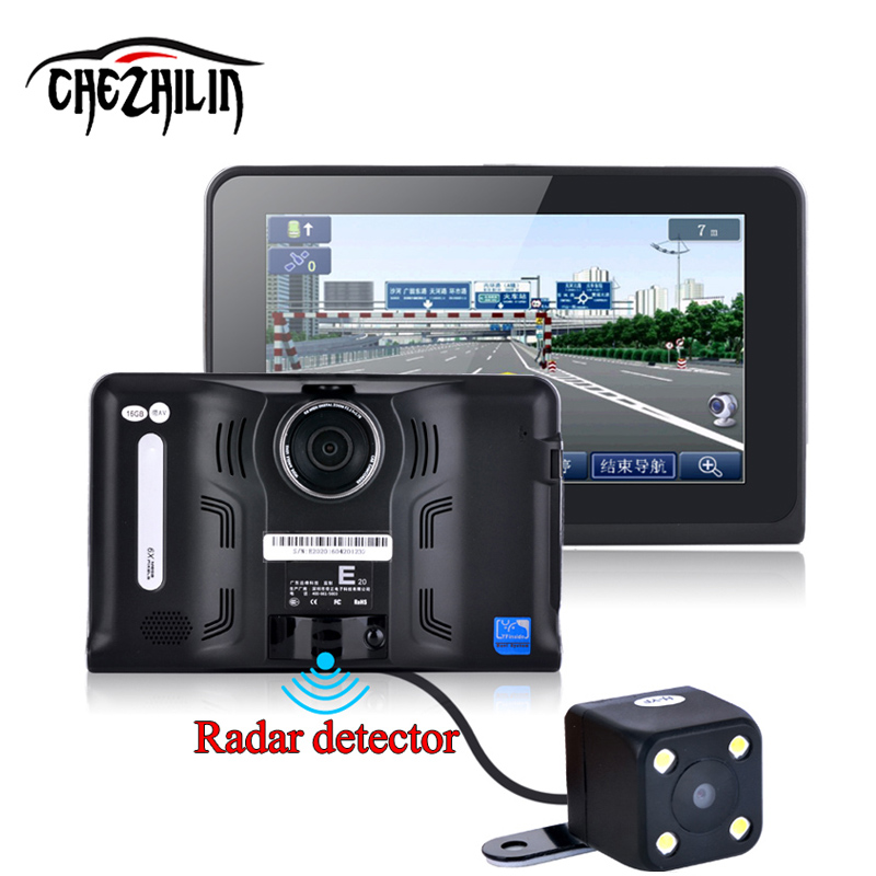 7 inch GPS Navigation Android GPS DVR Camcorder 16GB Allwinner A33 Quad Core 4 CPU Radar Detector Rearview C gpd q9 7 inch android 4 4 gamepad rk3288 quad core 1 8ghz