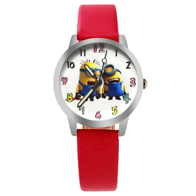 2017 New Arrive children leather strap Cartoon watch Despicable Me fashion style quartz  kids watch Enfants Montre joyrox minions pattern children watch 2017 hot despicable me cartoon leather strap quartz wristwatch boys girls kids clock