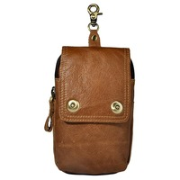 Brand Casual Genuine Leather 7 Cell Mobile Phone Wallet Punch Cover Men S Hip Bum Belt