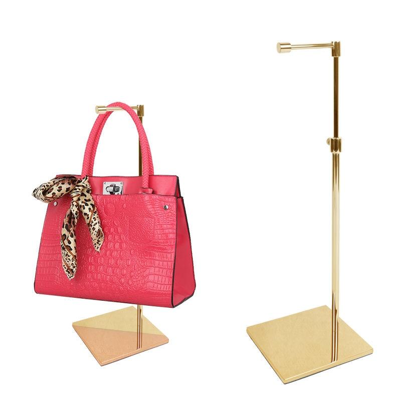 Linliangmuyu 10PCS Wholesale High quality matel women's bag handbag display holder stand rack BJ04 wholesale handbag display stand and bag holder stand bag display rack