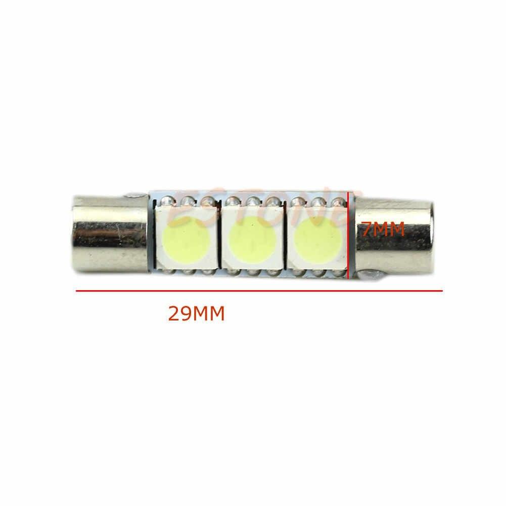 1 шт. белая T6 5050 29 мм 3-SMD светодиодный лампы для автомобиля солнцезащитный козырек туалетное зеркало предохранитель света