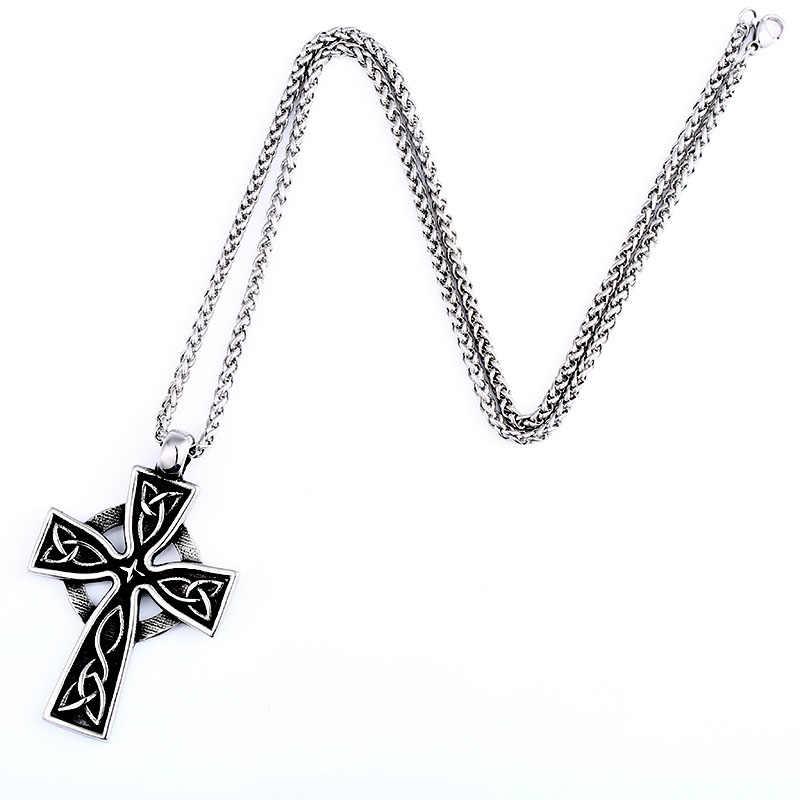 Beier 316L ze stali nierdzewnej wysokiej jakości viking wzór krzyż wisiorek necklacet dla mężczyzn Amulet skandynawski moda biżuteria LP460