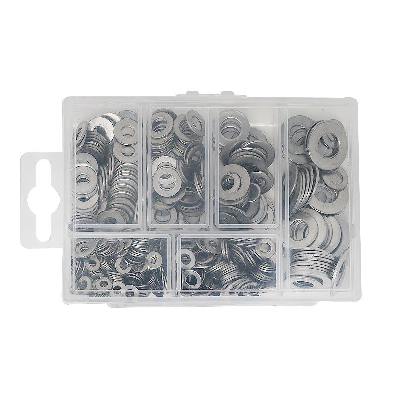 Купить с кэшбэком T.K.EXCELLENT Ultra-thin Flat Washer Gasket 304 Stainless Steel Anti-corrosion Cleaning Passivation M3 M4 M5 M6 M8 M10 660Pcs