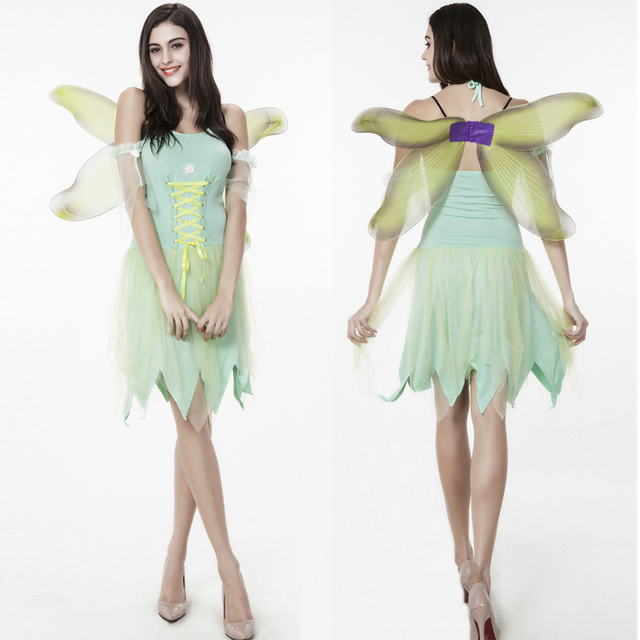 Sexy Adult Anime Tinker Bell coaplay Costume Flower Elf Angel Halloween Costume for Women party fancy  sc 1 st  AliExpress.com & Sexy Adult Anime Tinker Bell coaplay Costume Flower Elf Angel ...