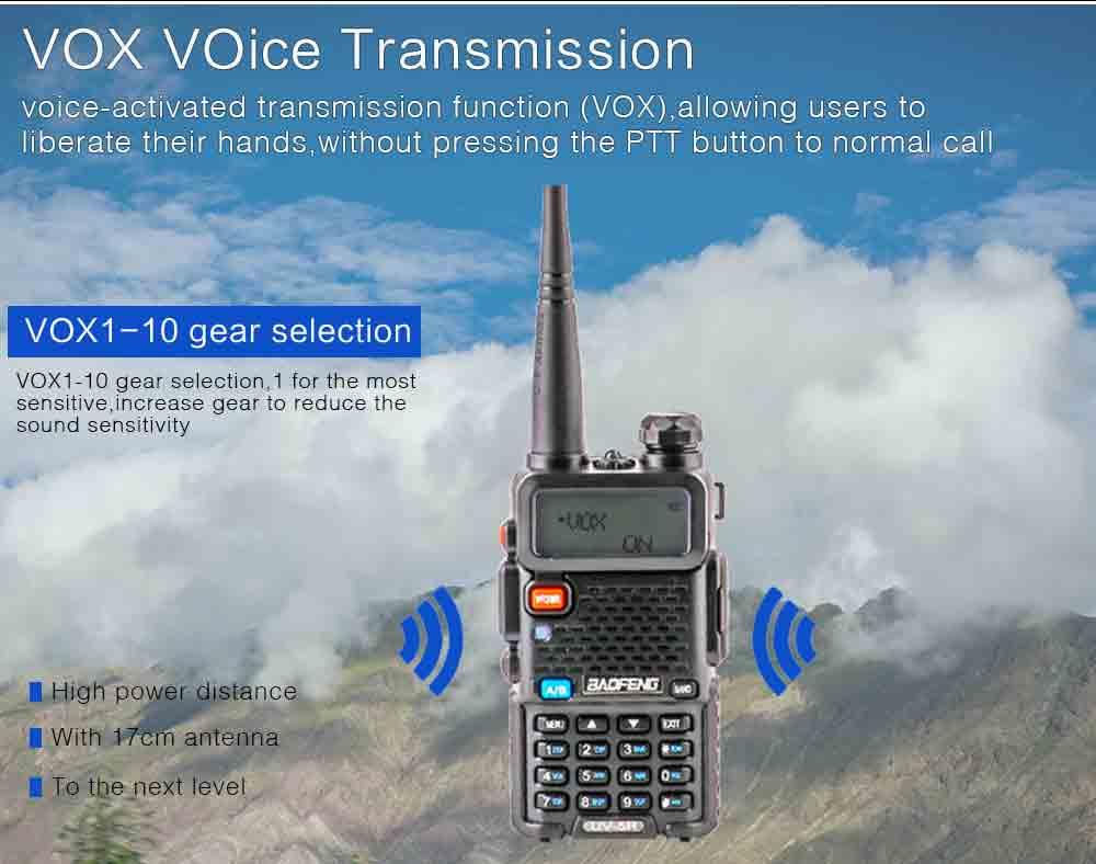 2Pcs BaoFeng UV-5R Walkie Talkie VHFUHF136-174Mhz&400-520Mhz Dual Band Two way radio Baofeng uv 5r Portable Walkie talkie uv5r (8)