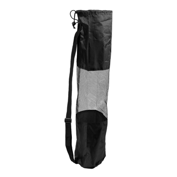 Portable Lightweight Exercise Yoga Mat Bag Carrier Mesh Center Pilates, Black