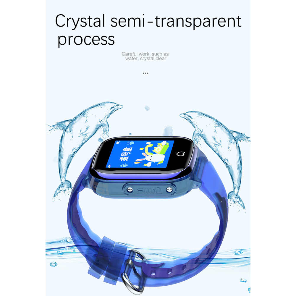 Boy Girl Anti Lost Camera Kid Smart Watch Positioning Tracker Gifts Pedometer Phone Waterproof SOS Calling  Screen With GPS