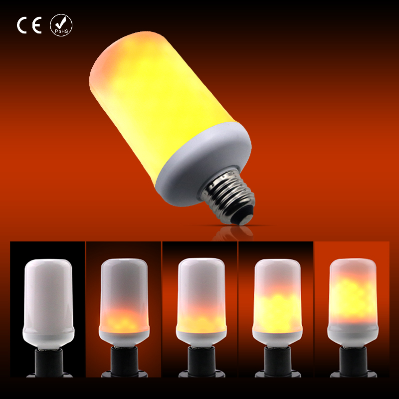 E27 Lamp E26 LED Flame Effect Bulb Two Modes 99leds AC110V AC220V Creative Fire Lights E14 lamparas SMD2835 5W Free shipping hot halloween home decoration 5w 2835 smd 99 led lamp bulb e27 flame flickering breathing general modes led lights bulb 110 240v