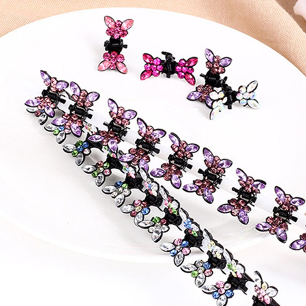 Butterfly Hairgrips Crystal Rhinestone Headwear Hair Clip Barrettes Hairpins