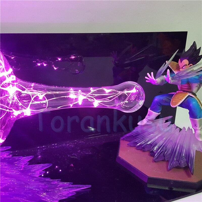 Dragon Ball Z Вегета супер galick Gun DIY сцены набор дракон мяч с изображением супер вегеты Светодиодные ночные огни фигурку аниме фигурка игрушки - 6