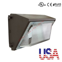 Stock In US + UL DLC Approve Outdoor LED Wall Pack Light 120W Industrial Wall Mount LED Lighting AC 110 265V
