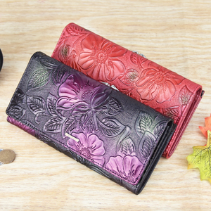 Image 5 - DICIHAYA New Arrive Ladies Wallets Leather Women Long Purse Flower Embossing Female Hasp Wallet Money Cards Purse Phone Bag