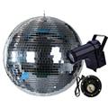 BEIAIDI D20CM 25 см стекло вращение Диско Зеркальный Шар с ЕС/США вилкой Мотор 10 Вт RGB луч Точечный светильник Свадебная вечеринка в стиле диско све...