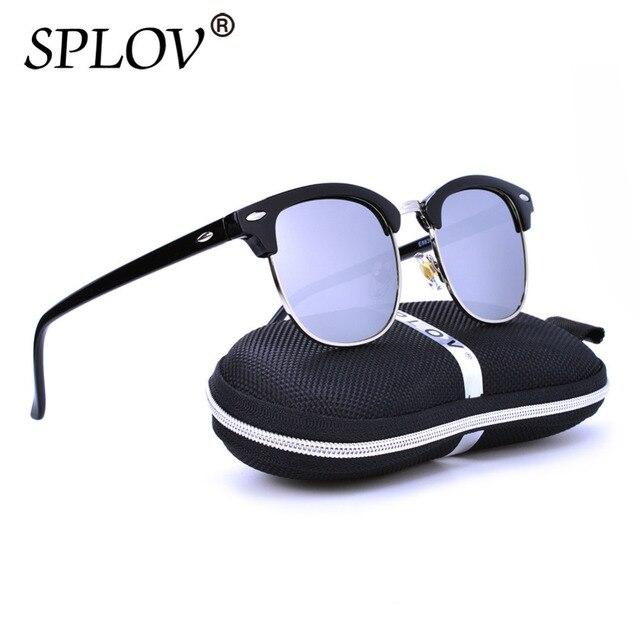 5f5429e1d0 Classique Rétro Réfléchissant Miroir Femmes lunettes de Soleil Marque  Designer Vintage Moitié Métal Cadre Lunettes de