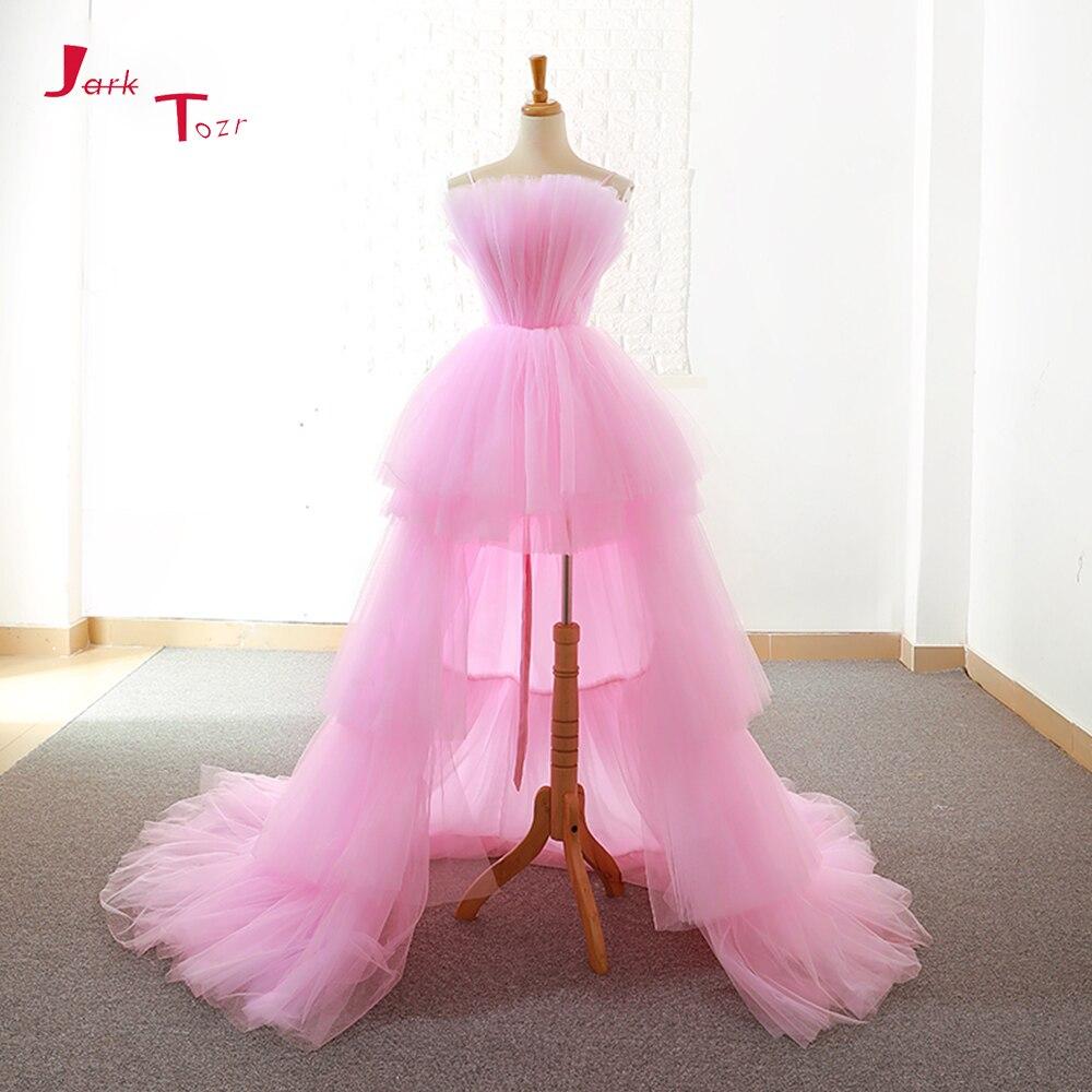 Jark Tozr Custom Made High Low Prom Dresses Vestido De Festa Alibaba China Pink Formal Gowns