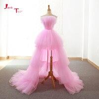 Jark Tozr индивидуальный заказ Высокая Низкая Пром платья Праздничное платье Alibaba Китай Розовый Вечерние платья Ballkleider