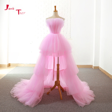 Prom-Dresses Formal-Gowns Vestido-De-Festa Jark Tozr Custom-Made Pink Ballkleider Low