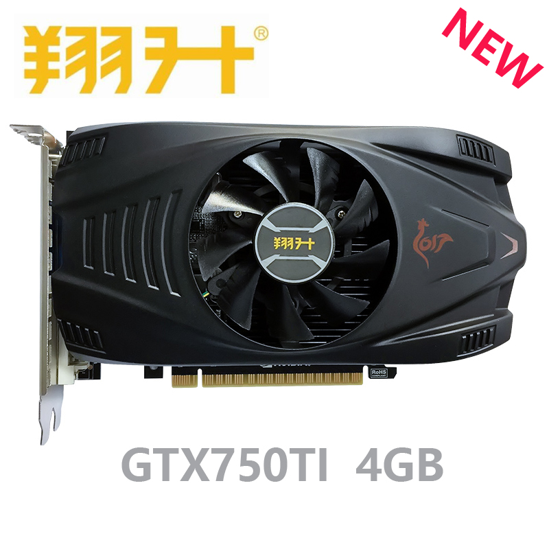 ASL GTX 750TI 4GB NVIDIA Graphics Card 4GB GDDR5 128bit PCI-E X16 3.0 GTX750TI 4G PC Gaming Video Card image
