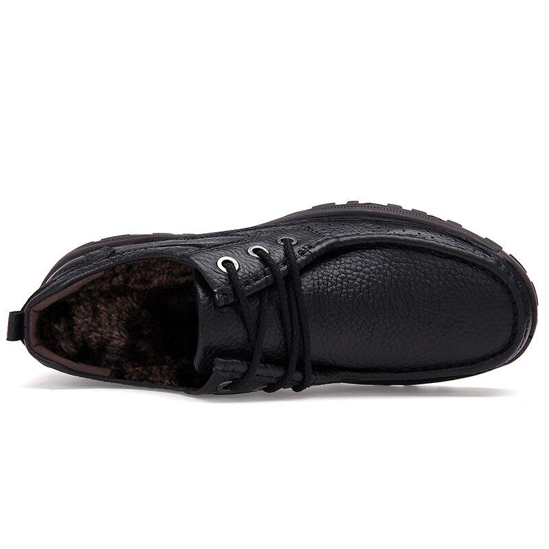 En Bottes Neige Chaud Bottes Cuir De Qualité brown Taille Cheville Grande Black Mode Véritable Confortable Vancat Hiver 48 Chaussures Hommes XnqT5WW