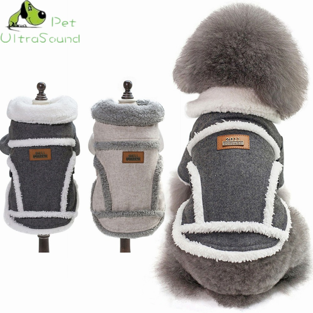 ULTRASOUND PET Pet Dog Coat Winter Warm Small Medium Dog Clothes For Chihuahua Soft Hoodies Puppy Jacket Clothing in Dog Coats Jackets from Home Garden