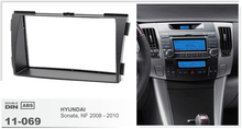 11-069 Free Shipping top quality car radio fasica stereo face facia surround trim frame for HYUNDAI Sonata (NF) 2008-2010 2-DIN