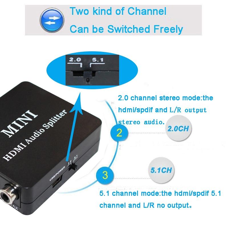 1080p HDMI audio extractor Optical TOSLINK SPDIF coxial Audio Extractor Converter HDMI Audio Splitter