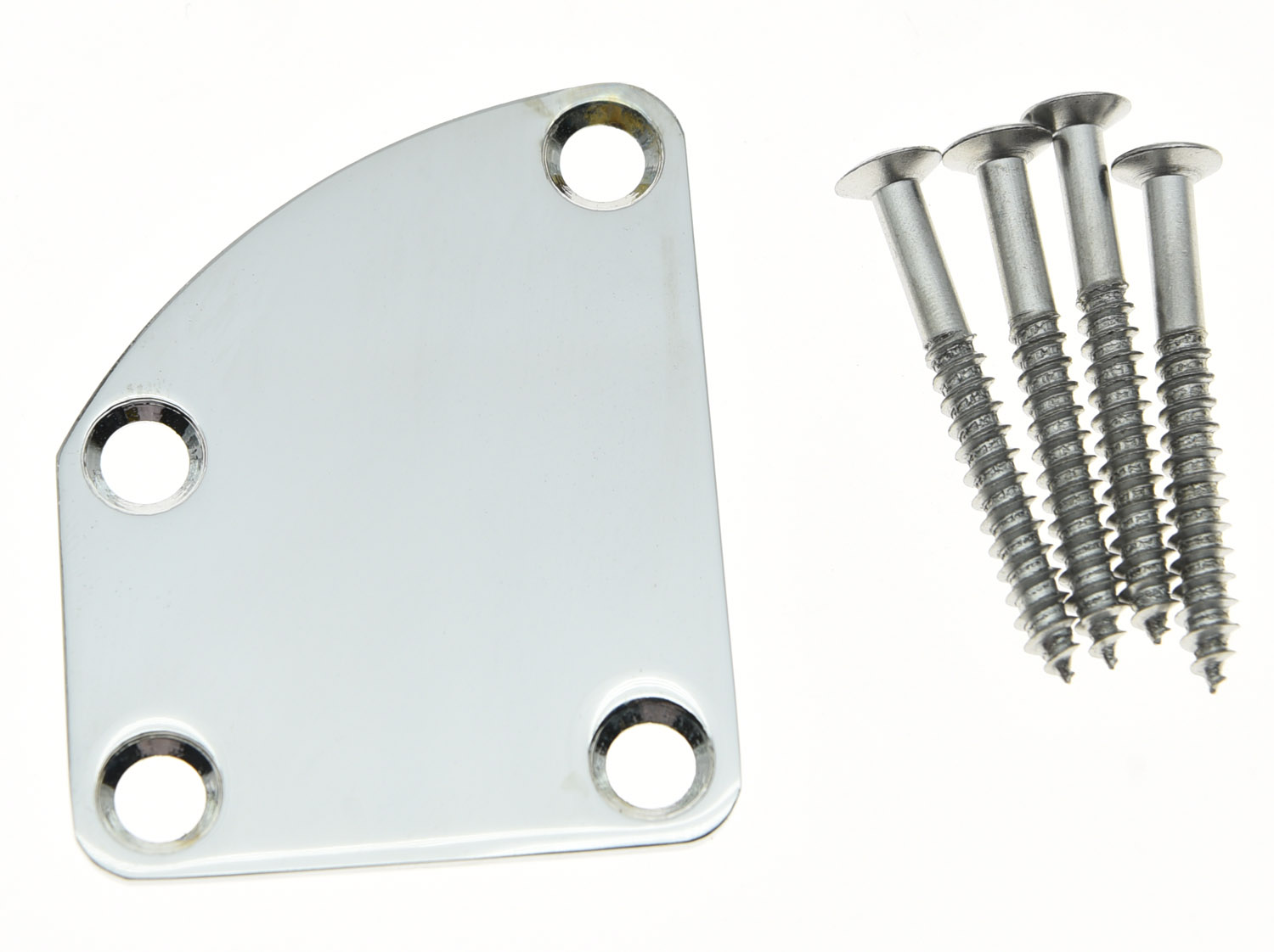 KAISH Chrome Electric Guitar Neck Plate Metal Neckplate Fits for  Delexe Strat Tele футболка с полной запечаткой женская printio лондон