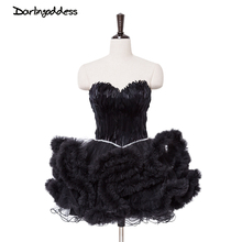88c0dd0ea9cd3 Buy white feather cocktail dress and get free shipping on AliExpress.com