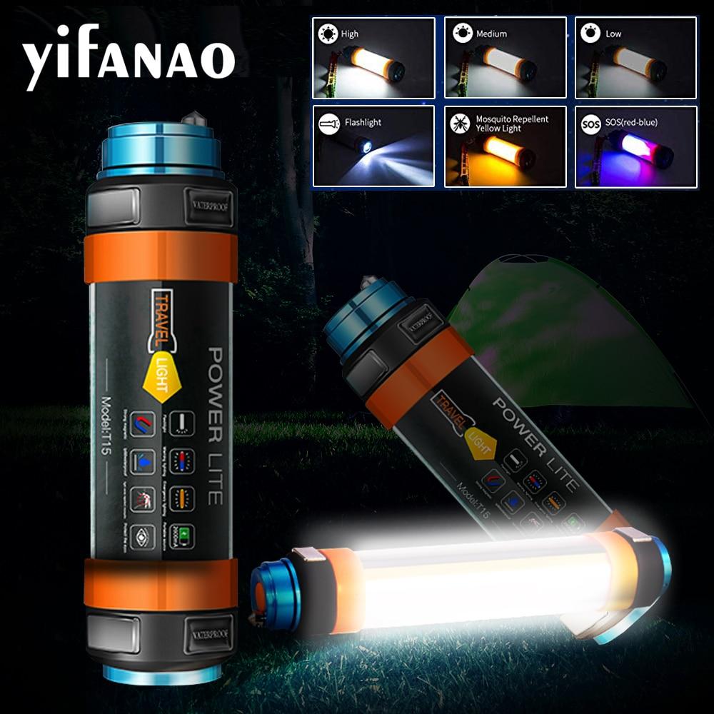 Ha Condotto La Luce di Campeggio 7800 Mah Tenda di Zanzara Lampada Usb Ricaricabile Impermeabile Multi-Funzionale Lanterna Torcia Appesa Magnetico