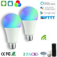 Smart Bulb 5W,RGBW Smart LED Light, Dimmable Smart Wifi Bulb E27 ,Works with Alexa,Google Assistant IFTTT (2 Pack)