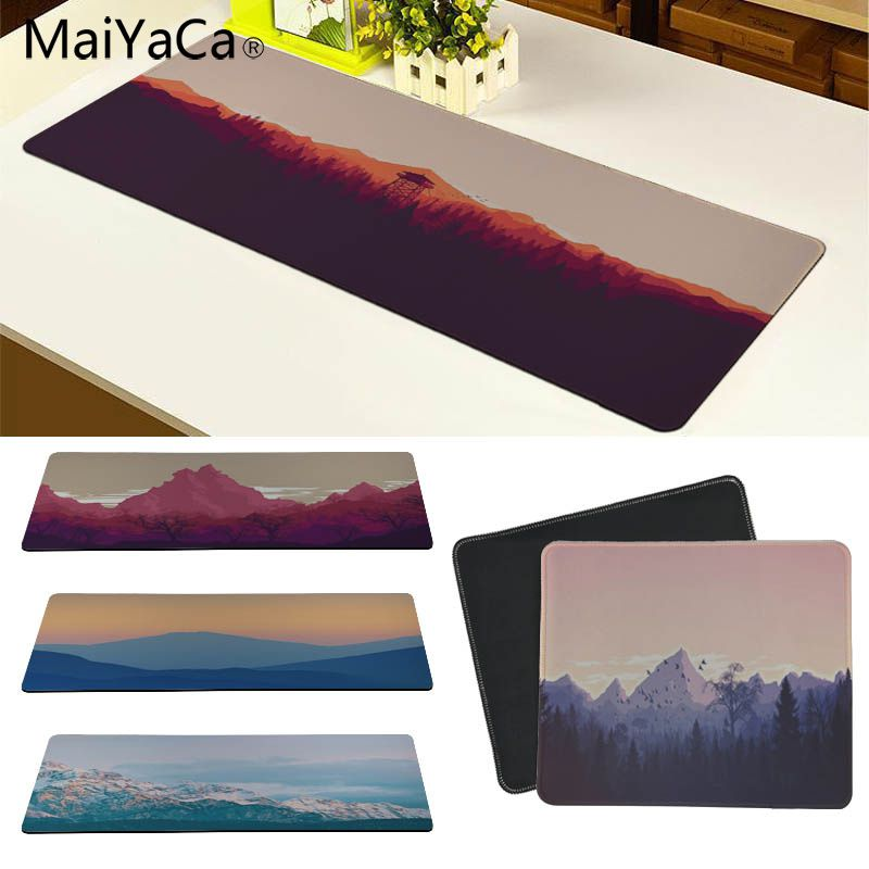 MaiYaCa Simple Design Mountains Minimal Anti-Slip Durable Silicone Computermats Size For 18*22 20*25 25*29 30*60 And 30*90cm