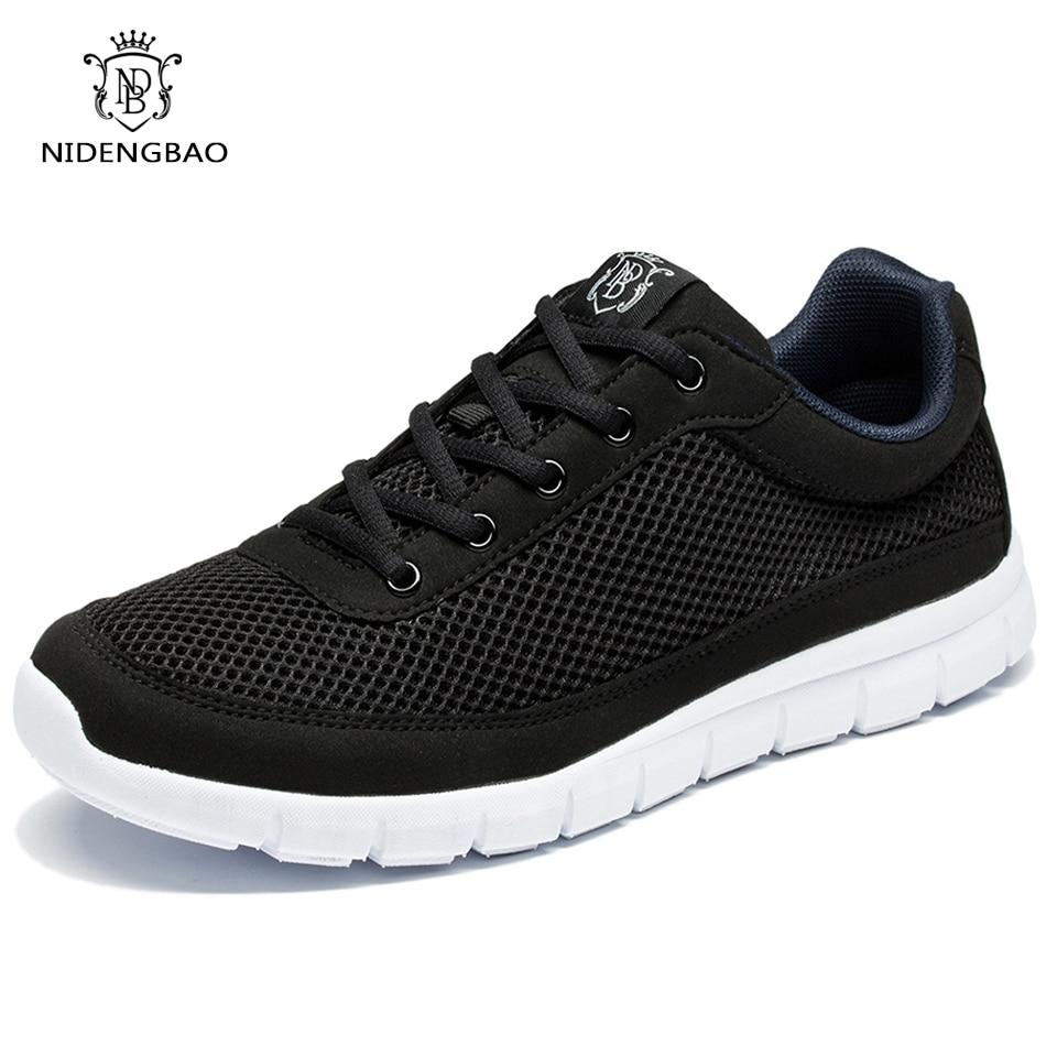 NEEDBO Mens Zapatos Para Caminar Anti-Sudor Absorbente Transpirable Mesh Lace Up