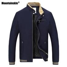 Mountainskin Демисезонный Повседневное Для мужчин куртка со стоячим воротником Для мужчин пальто Slim Fit Мужская Верхняя одежда Пальто Для мужчин s брендовая одежда 4XL SA511